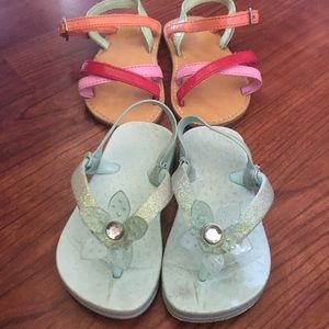 2 pairs toddler girls sandals size 5